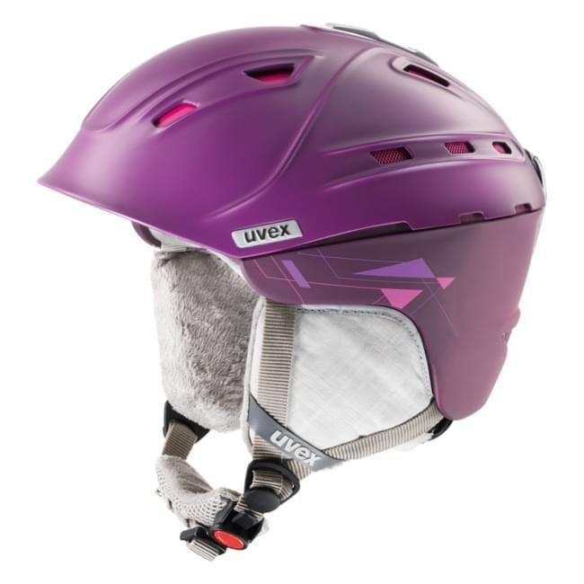 Fialová dámská helma na snowboard Uvex - velikost 51-55 cm