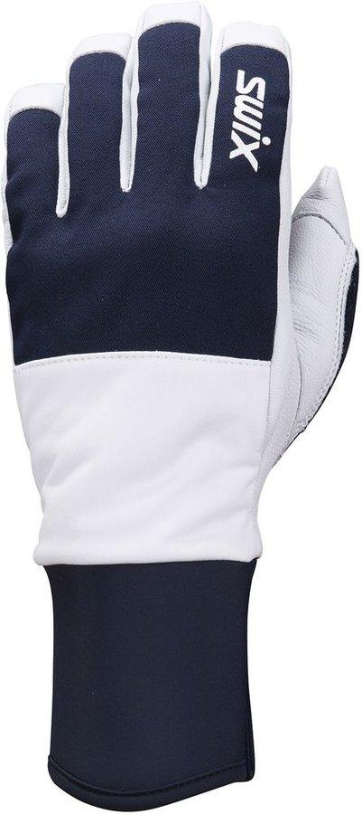 Bílo-modré rukavice na běžky Swix