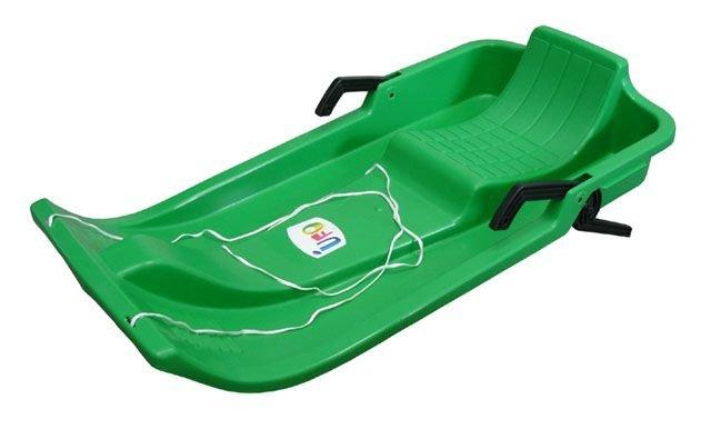 Zelené dětské boby s brzdami CorbySport