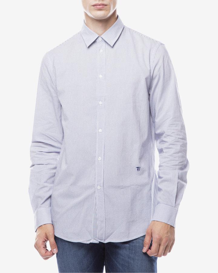 Modrá pánská košile s dlouhým rukávem Trussardi Jeans - velikost 40