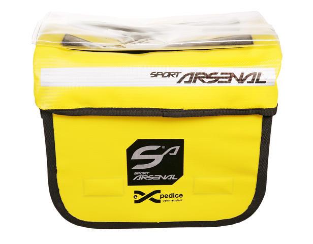 Černo-žlutá brašna na kolo na řidítka Sport Arsenal - objem 9 l