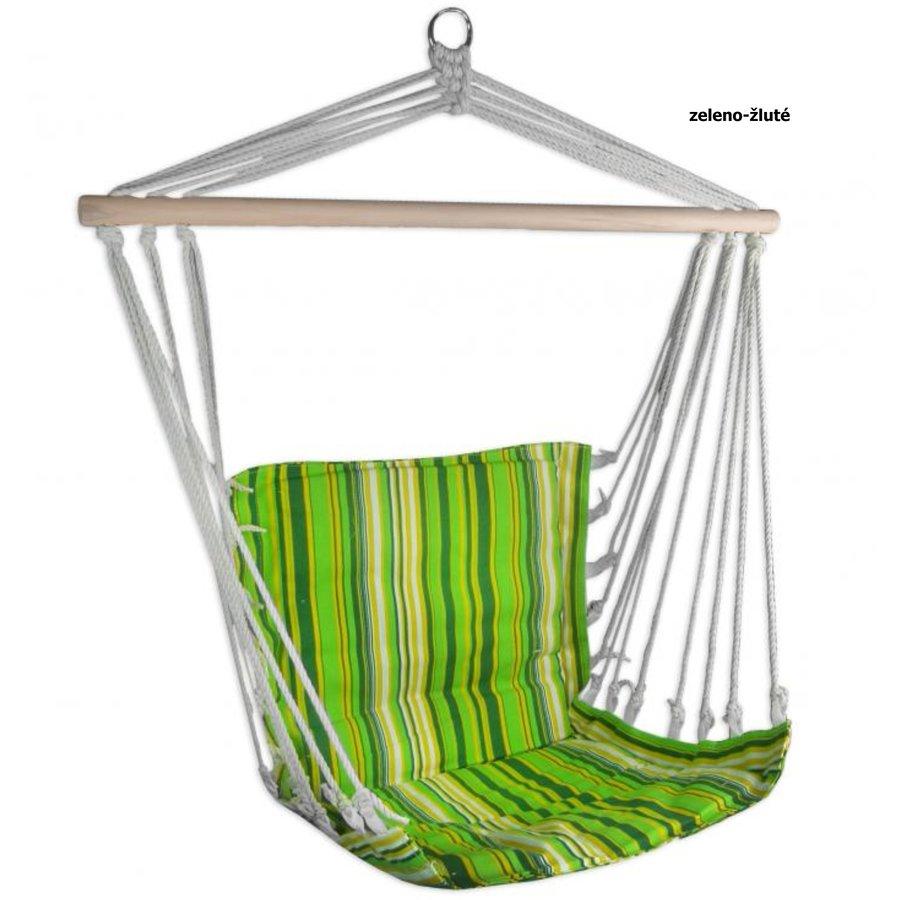 Zelené závěsné houpací křeslo Sedco