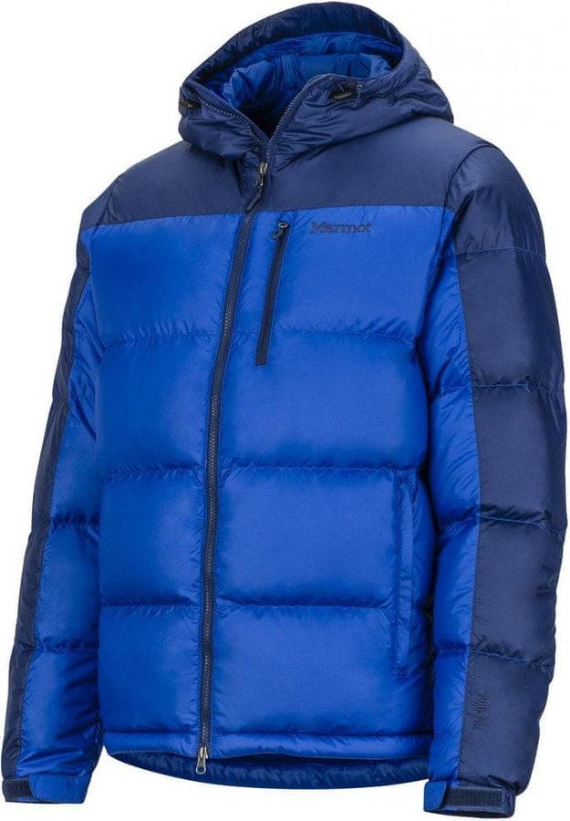 Modrá peřová pánská bunda Marmot