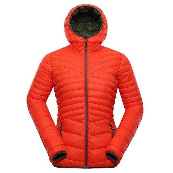 Oranžová zimní dámská bunda s kapucí Alpine Pro - velikost S