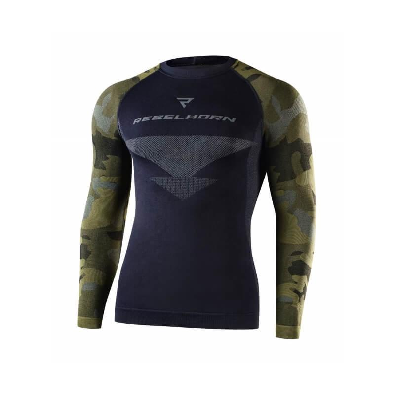 Černo-zelené motorkářské tričko Freeze Jersey, Rebelhorn
