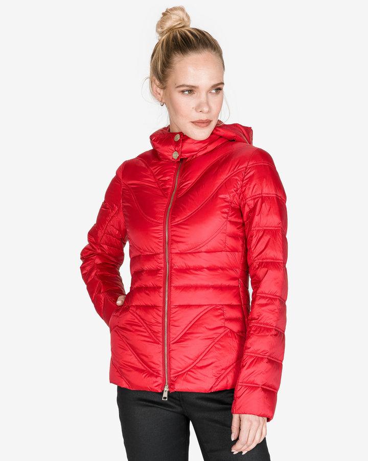 Červená prošívaná dámská bunda Liu Jo