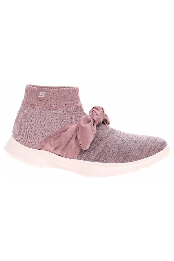 Růžové dámské kotníkové boty Skechers - velikost 40 EU