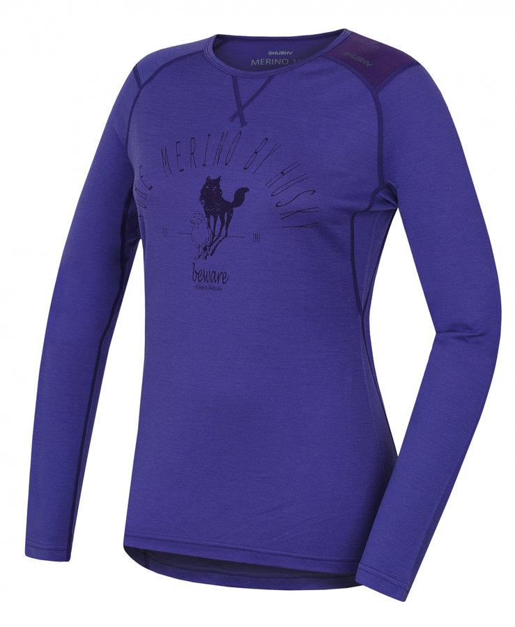Fialové dámské termo tričko s dlouhým rukávem Husky