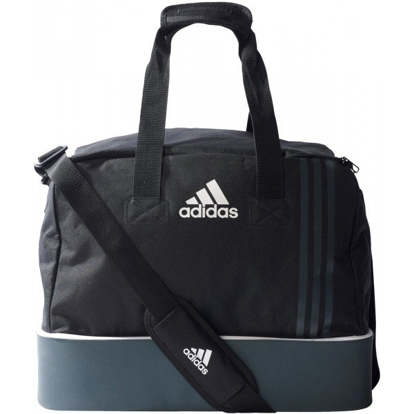 Černá fotbalová taška s dvojitým dnem Adidas - objem 52 l