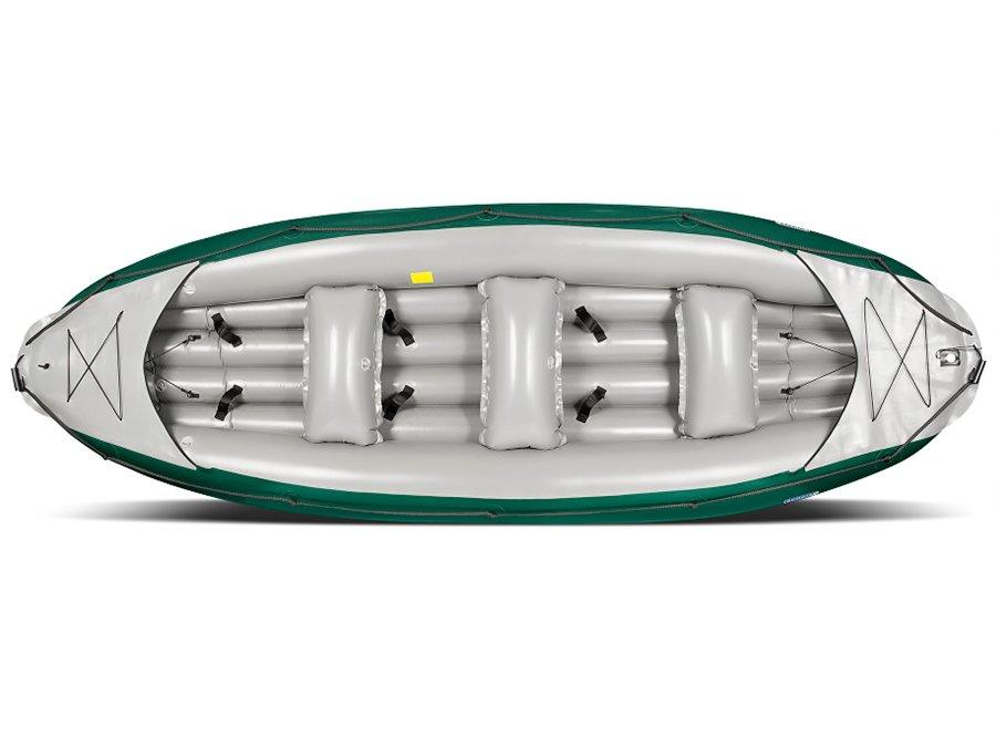 Žlutý nafukovací raft s nafukovacím dnem pro 6 osob Ontario, Gumotex