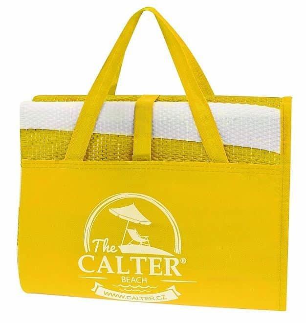 Žluté skládací plážové lehátko Calter