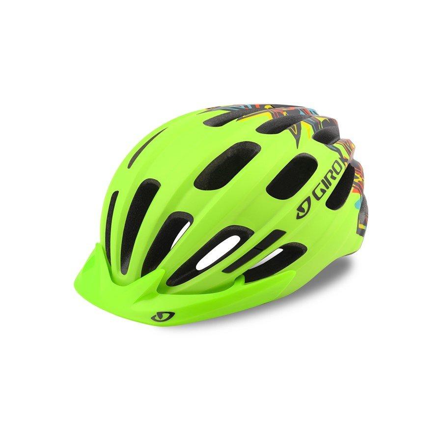 Zelená dětská cyklistická helma Giro - velikost 50-57 cm