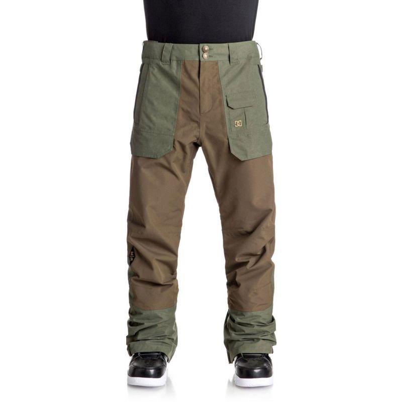 Hnědé pánské snowboardové kalhoty DC