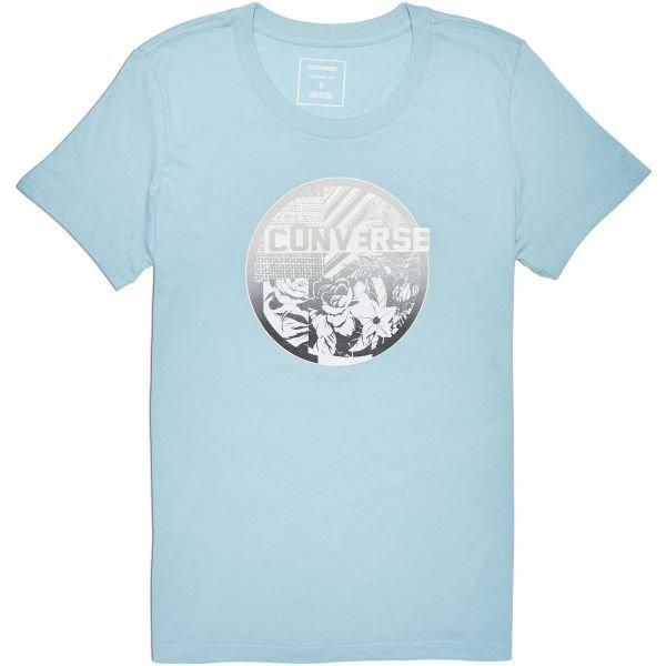 Modré dámské tričko s krátkým rukávem Converse - velikost XS