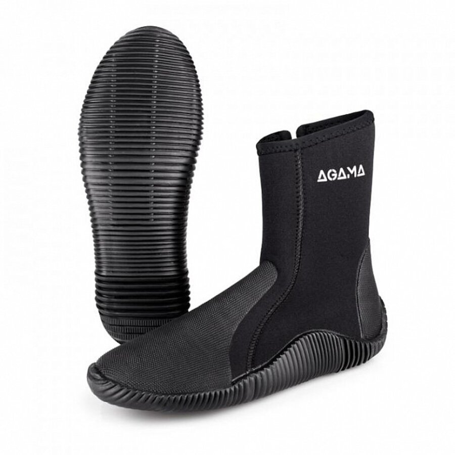Černé vysoké neoprenové boty Stream, Agama - velikost 49-50 EU