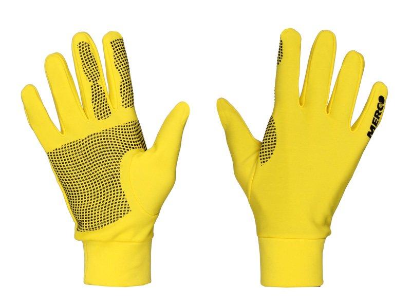 Žluté pánské nebo dámské běžecké rukavice Merco