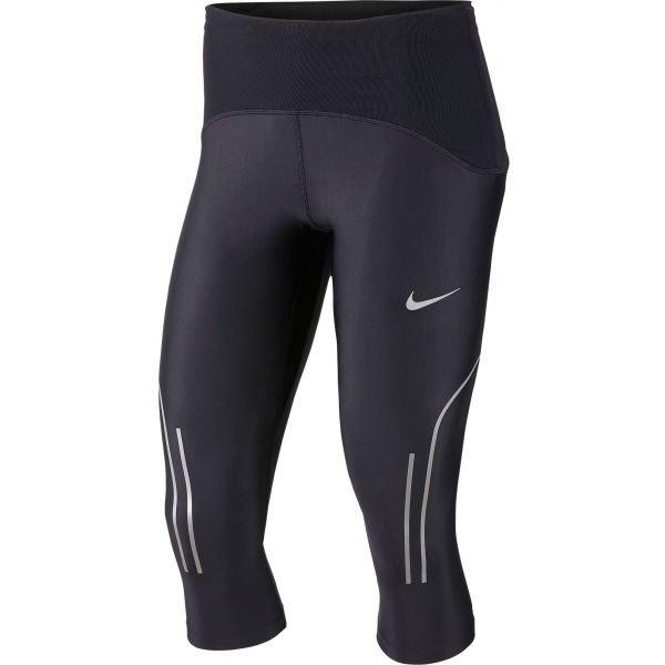 Černé 3/4 dámské běžecké kalhoty Nike