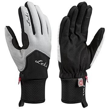 Černo-šedé dámské lyžařské rukavice Leki