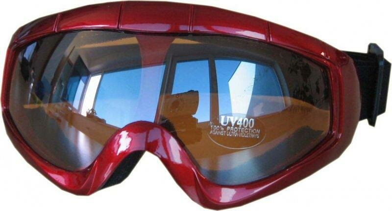 Červené dětské lyžařské brýle Cortini
