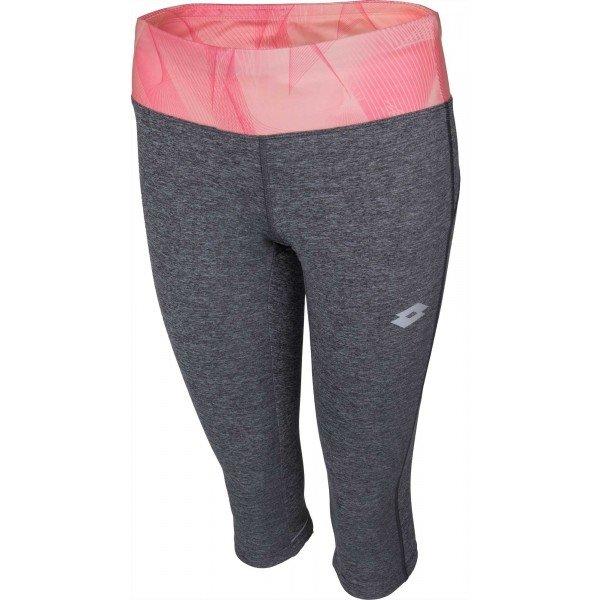 Růžovo-šedé 3/4 dámské běžecké legíny Lotto