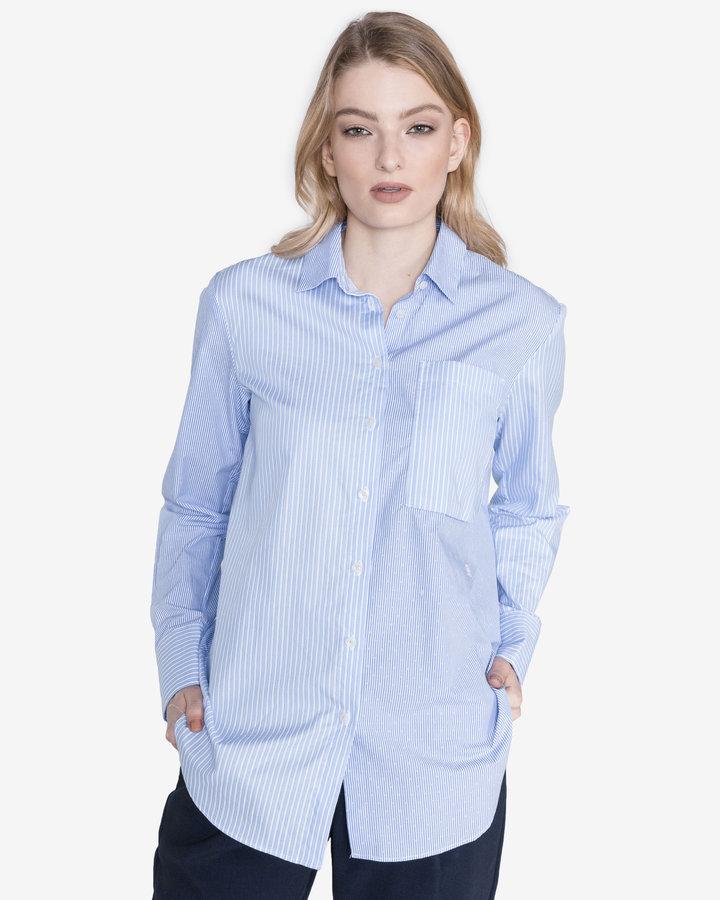 Modrá dámská košile s dlouhým rukávem G-Star RAW