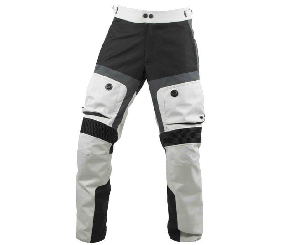 Bílo-černé pánské motorkářské kalhoty Nazran