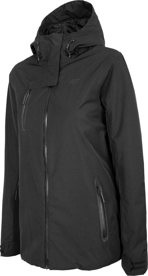 Černá dámská turistická bunda 4F - velikost S