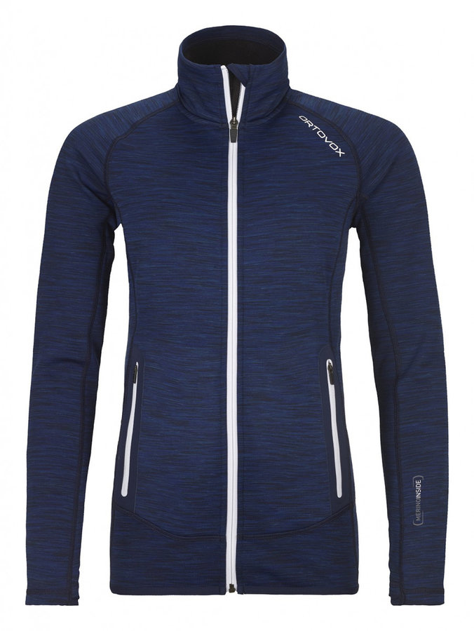 Modrá dámská bunda na běžky bez kapuce Ortovox