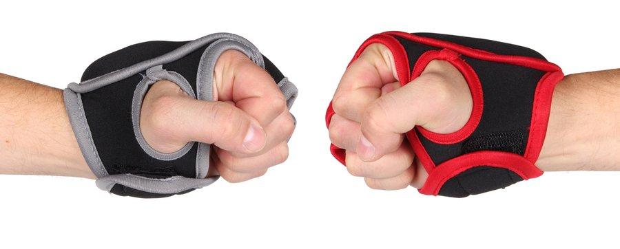 Černo-růžové boxerské rukavice Merco