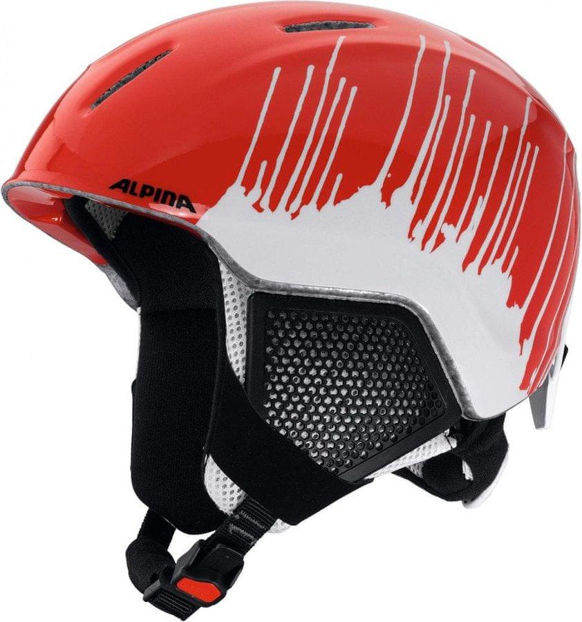 Bílo-oranžová dětská lyžařská helma Alpina Sports