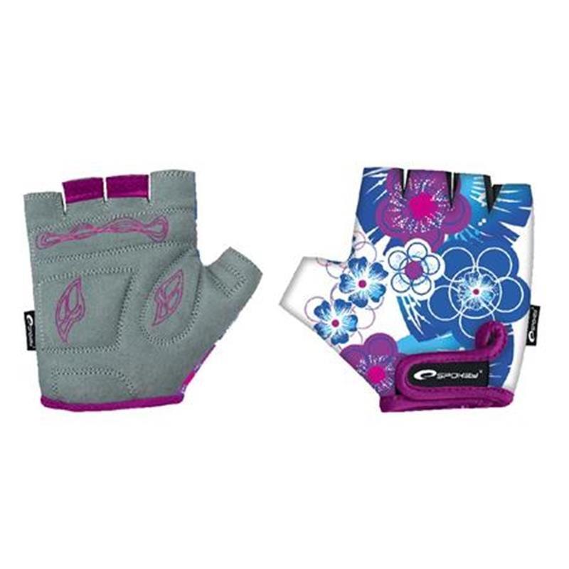 Cyklistické rukavice - SPOKEY - BLUE GLOVE Dětské cyklistické rukavice dětské XXS