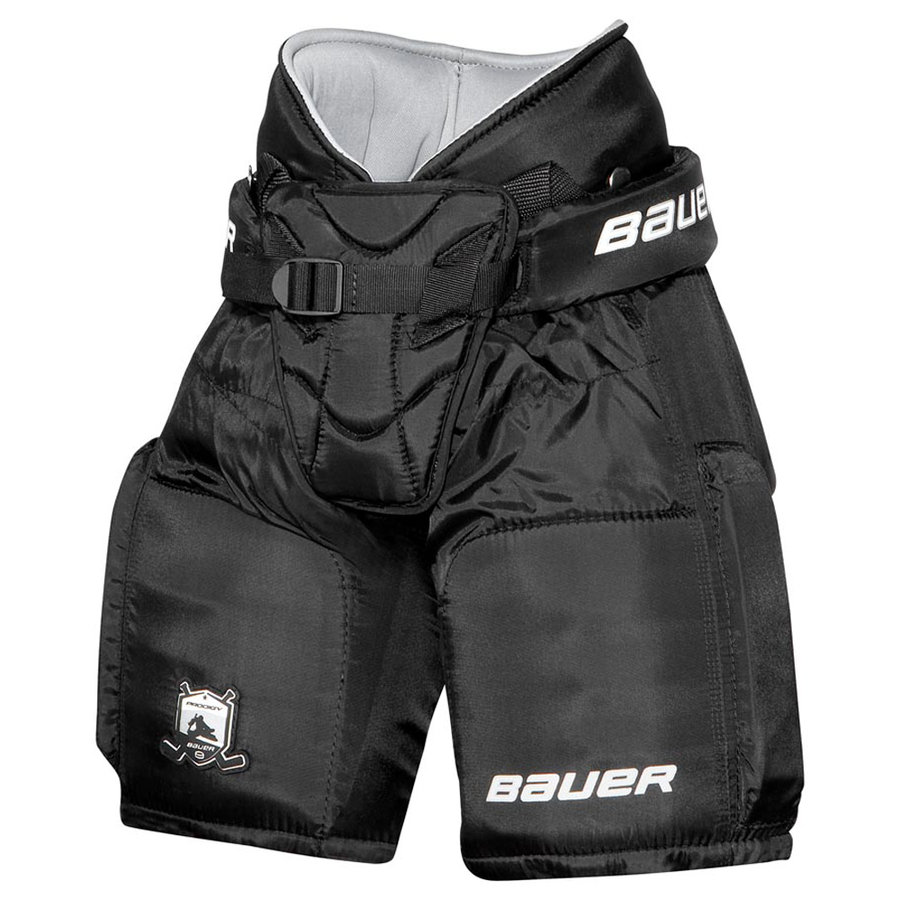 Černé brankářské hokejové kalhoty Bauer - velikost S-M