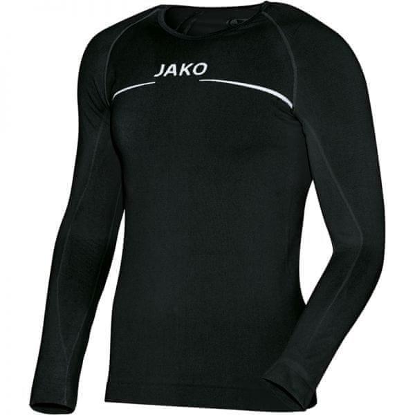 Černé basketbalové tričko s dlouhým rukávem Jako