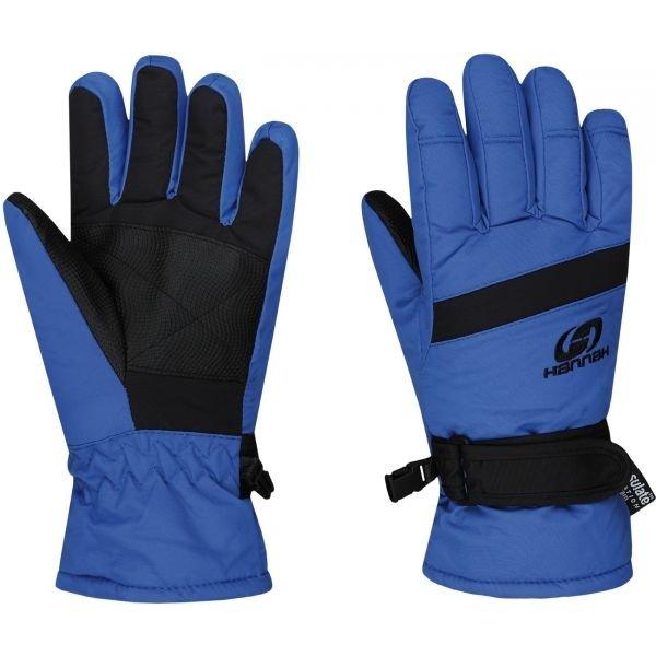 Černo-modré dětské lyžařské rukavice Hannah