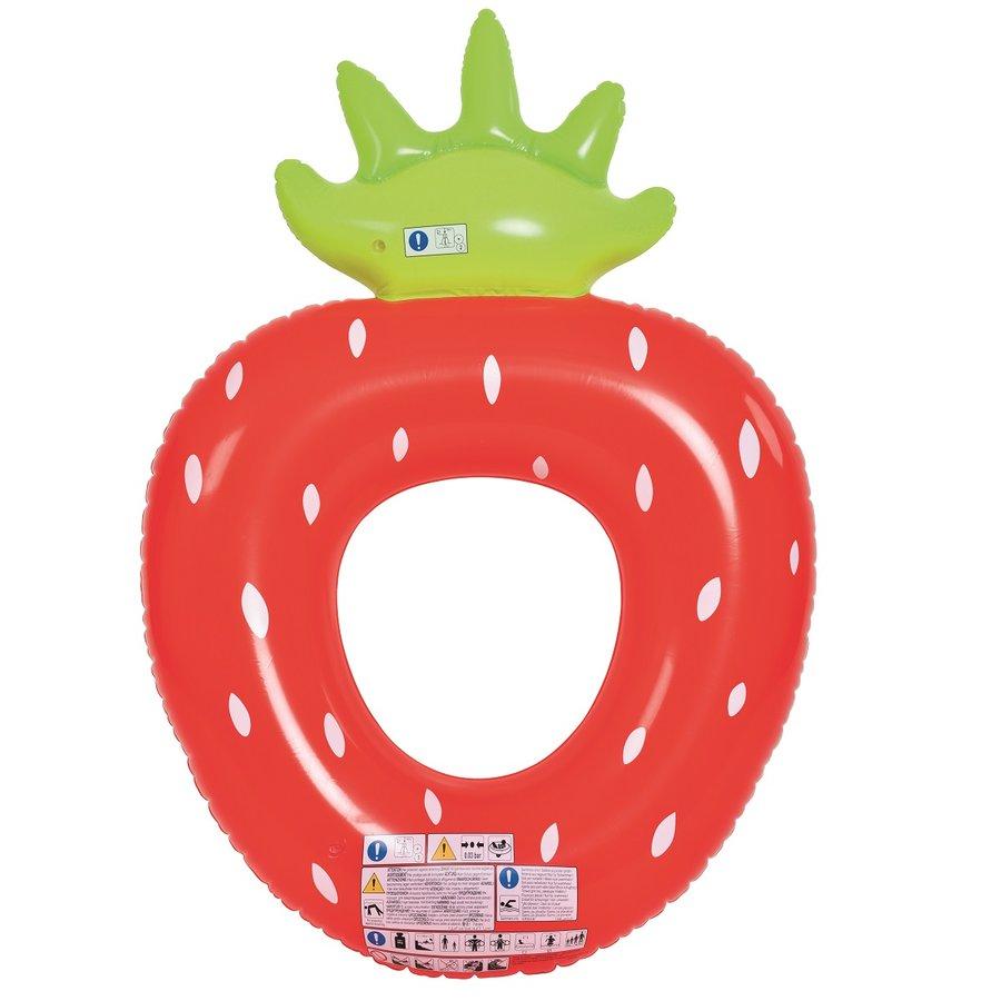 Červeno-zelený plavecký kruh Jahoda MASTER POOL - průměr 76 cm