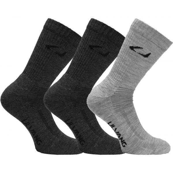 Ponožky - Ulvang ALLROUND 3PCK šedá 35/39 - Vlněné ponožky