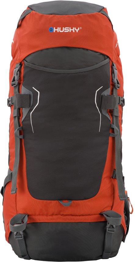 Oranžovo-šedý batoh Husky - objem 50 l