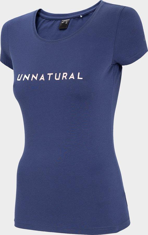 Modré dámské tričko s krátkým rukávem 4F - velikost XS