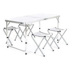 Kempingová sada nábytku Happy Green 1x stůl, 4x židle