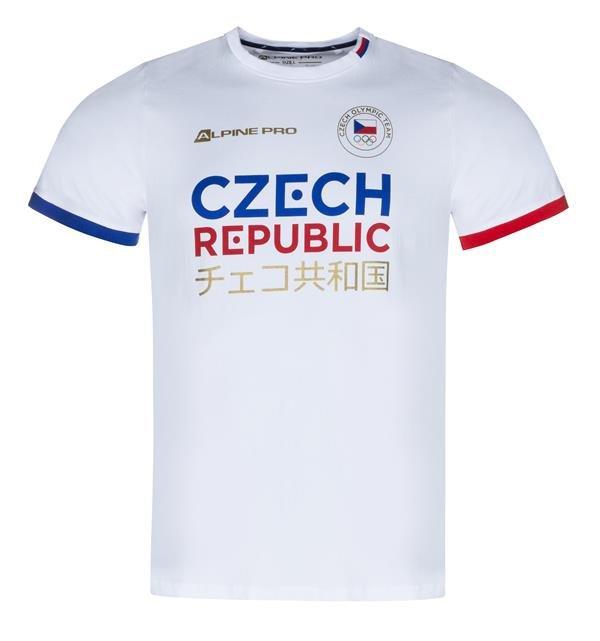 Bílé pánské tričko s krátkým rukávem Alpine Pro