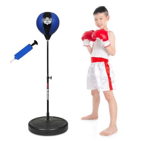 Černo-modrá stojící boxovací hruška Bushido