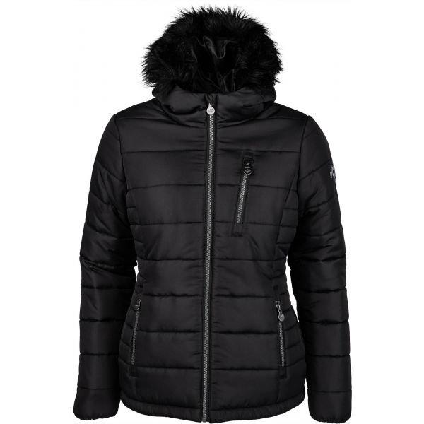 Černá zimní dámská bunda s kapucí Willard