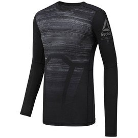 Černé pánské tričko s dlouhým rukávem Reebok