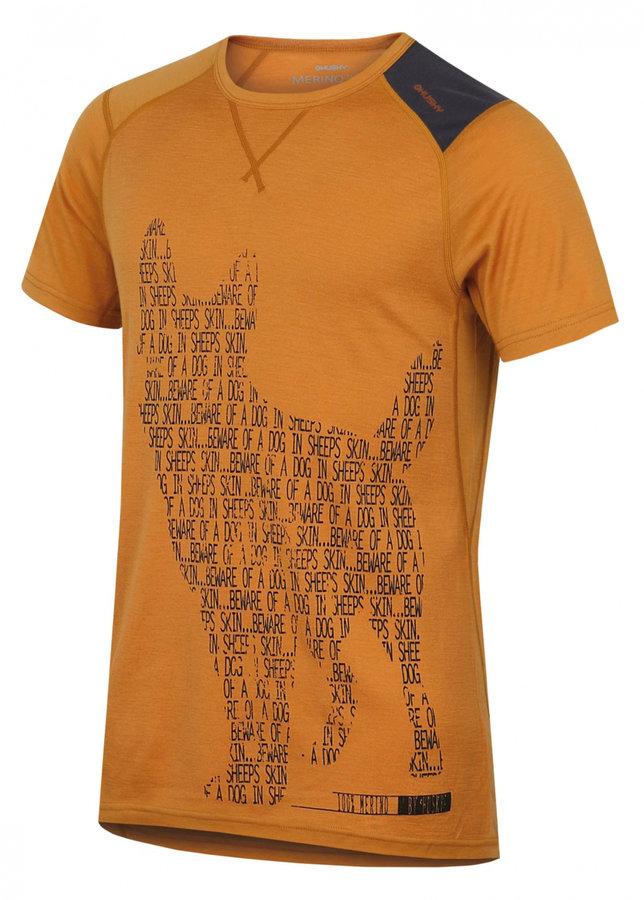 Oranžové pánské termo tričko s krátkým rukávem Husky - velikost XL