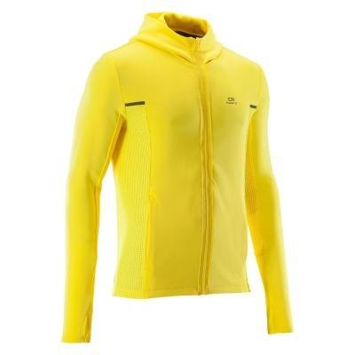 Žlutá běžecká bunda Warm, Kalenji