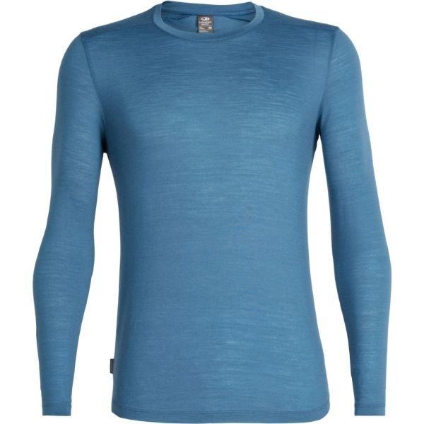 Modré pánské funkční tričko s dlouhým rukávem Icebreaker