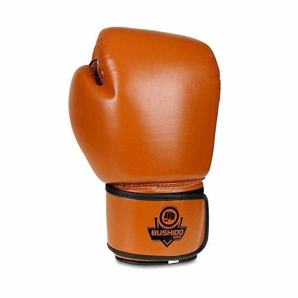 Hnědé boxerské rukavice Bushido - velikost 14 oz
