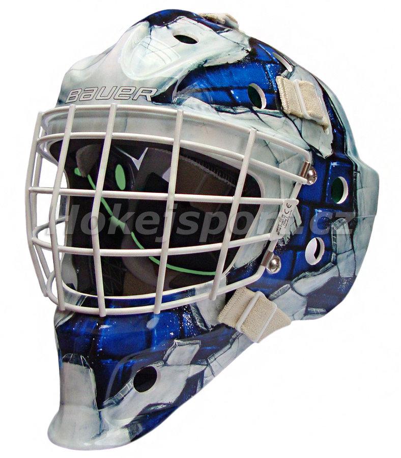 Brankářská maska - Brankářská maska Bauer NME 4 Senior WALL BLU Barva: Wall BLU