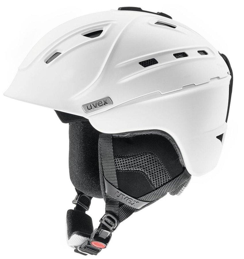 Bílá helma na snowboard Uvex - velikost 51-55 cm
