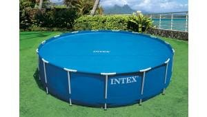 Modrá solární plachta na bazén INTEX - průměr 305 cm